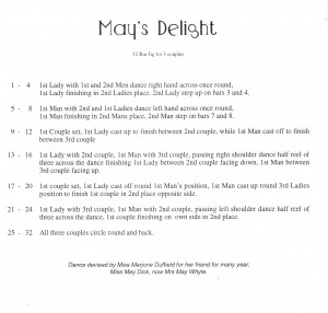 1. May's Delight